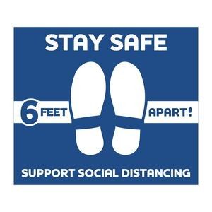 "Stay Safe Floor Decals (12""x14"")"